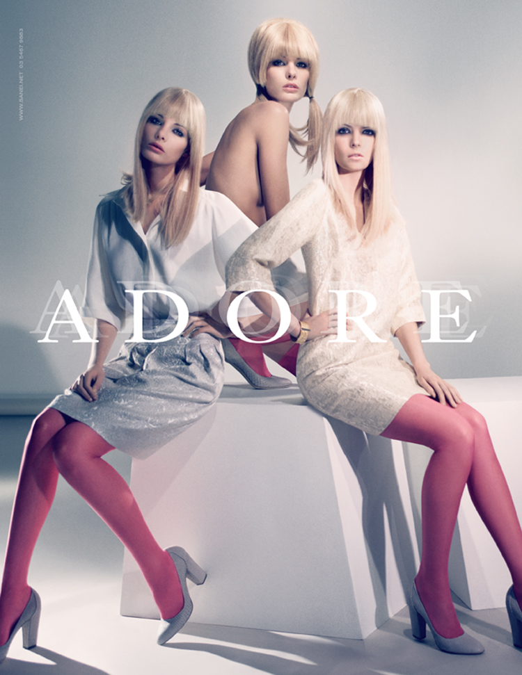 advertising: adore fashion accessories campaign featuring