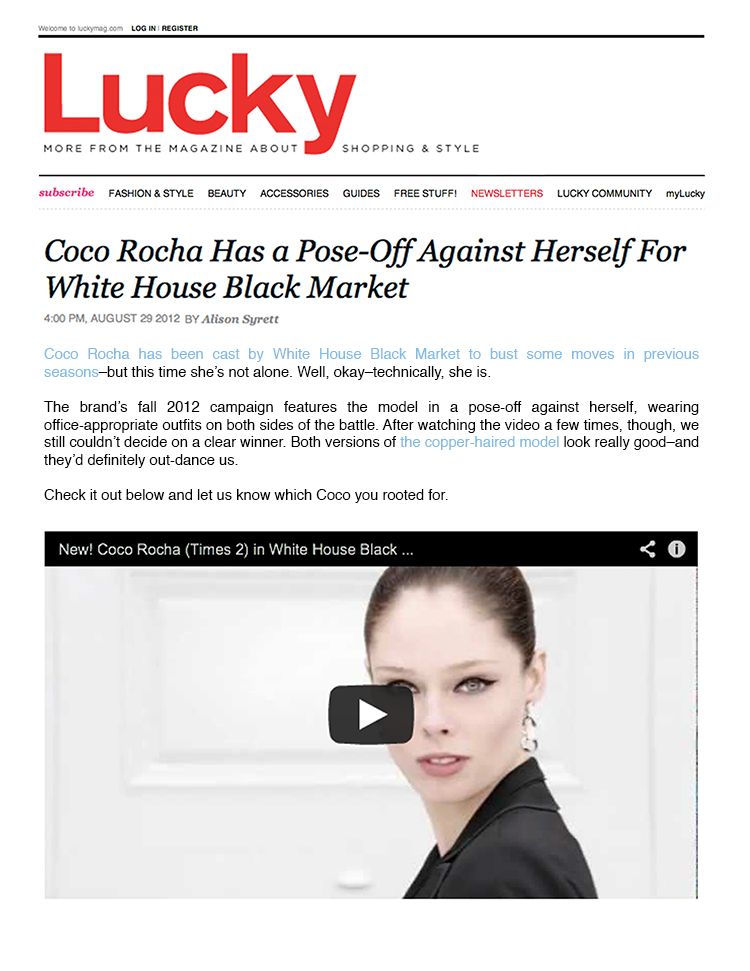 ceft and company ny agency whbm alter ego tv commercial matt bieler johan renck coco rocha press lucky